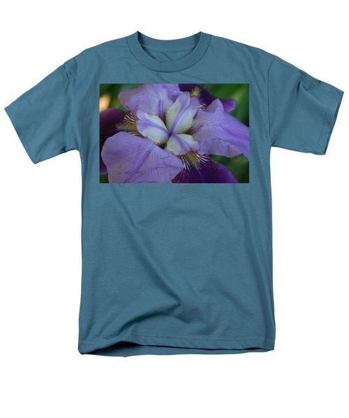 Men's T-Shirt  (Regular Fit) featuring the digital art Blooming Iris by Barbara S Nickerson