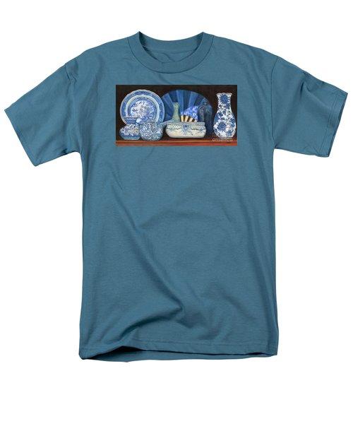 Blue And White Porcelain Ware Men's T-Shirt  (Regular Fit) by Marlene Book