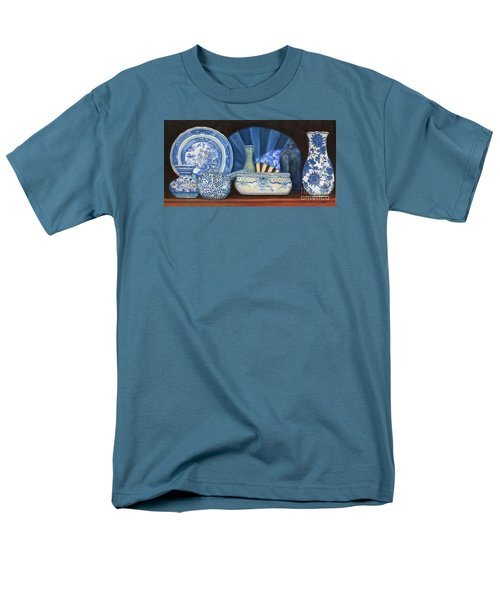 Blue And White Porcelain Ware Men's T-Shirt  (Regular Fit)