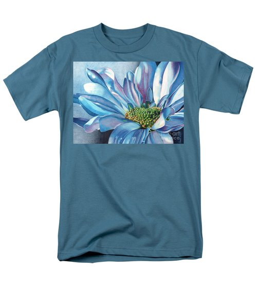 Blue Men's T-Shirt  (Regular Fit) by Angela Armano