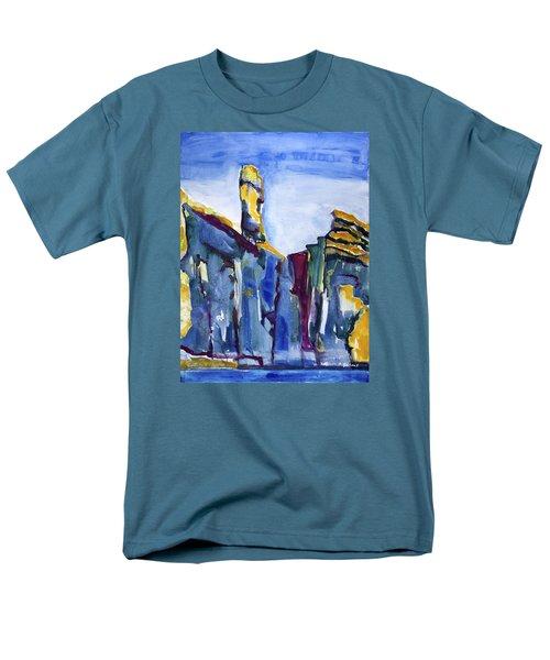 Blue Cliffs, Sea And Sky Men's T-Shirt  (Regular Fit)
