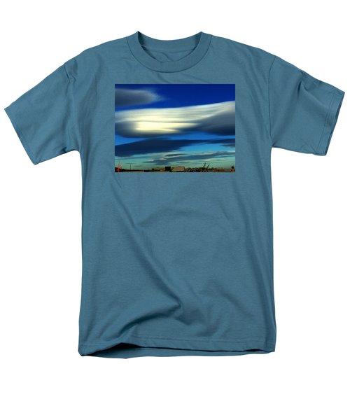 Blue Day Spain  Men's T-Shirt  (Regular Fit) by Colette V Hera Guggenheim