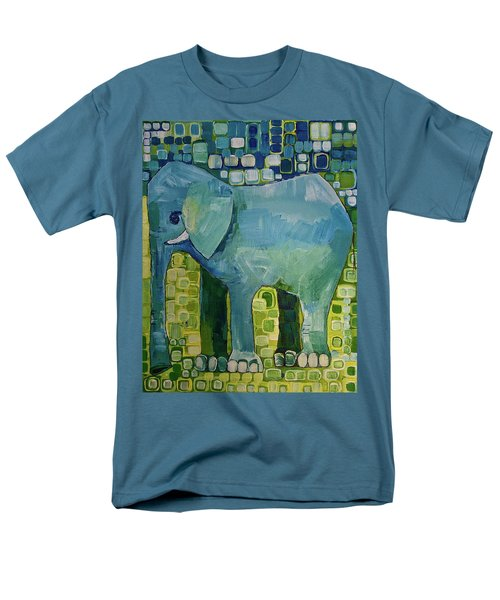Men's T-Shirt  (Regular Fit) featuring the painting Blue Elephant by Donna Howard