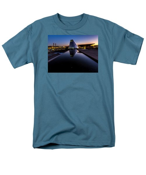 Men's T-Shirt  (Regular Fit) featuring the photograph Blue Hour Reflections On Glass by Rob Green