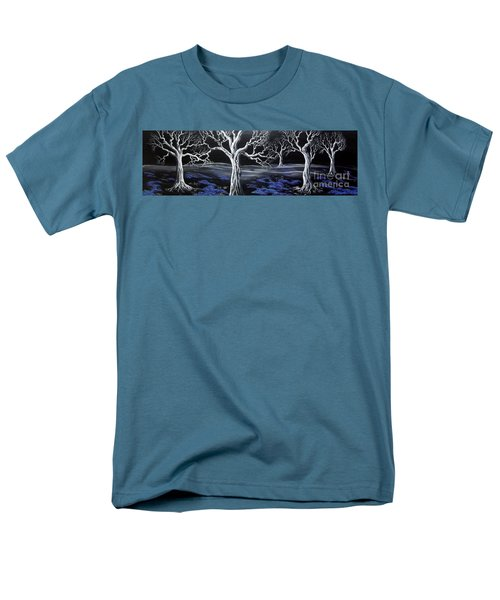 Men's T-Shirt  (Regular Fit) featuring the painting Blue Medadow by Kenneth Clarke