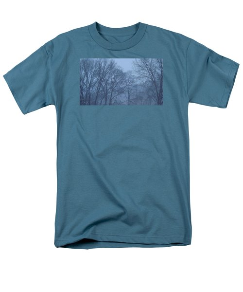 Men's T-Shirt  (Regular Fit) featuring the photograph Blue Morning Mist by Don Koester