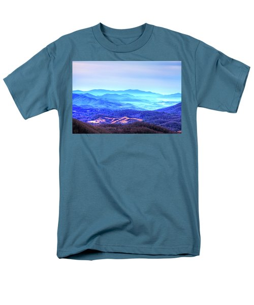Blue Mountain Mist Men's T-Shirt  (Regular Fit) by Dale R Carlson