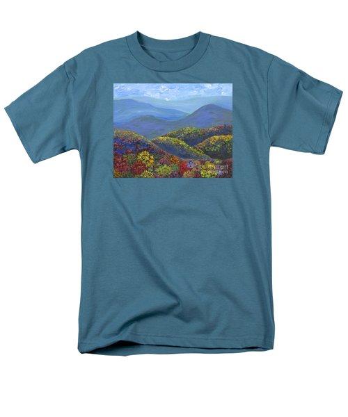 Blue Ridge Colors Men's T-Shirt  (Regular Fit) by Anne Marie Brown