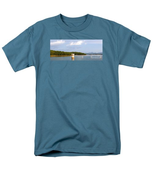 Blue Ridge Dam Men's T-Shirt  (Regular Fit) by Michael Waters