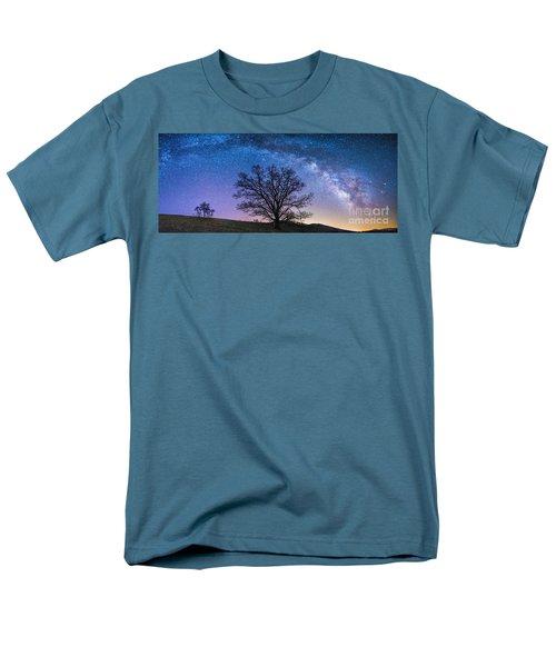 Blue Ridge Milkyway Men's T-Shirt  (Regular Fit) by Robert Loe