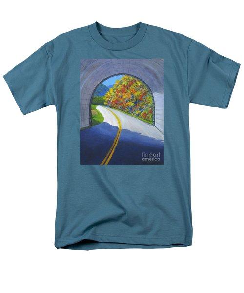 Blue Ridge Tunnel Men's T-Shirt  (Regular Fit) by Anne Marie Brown