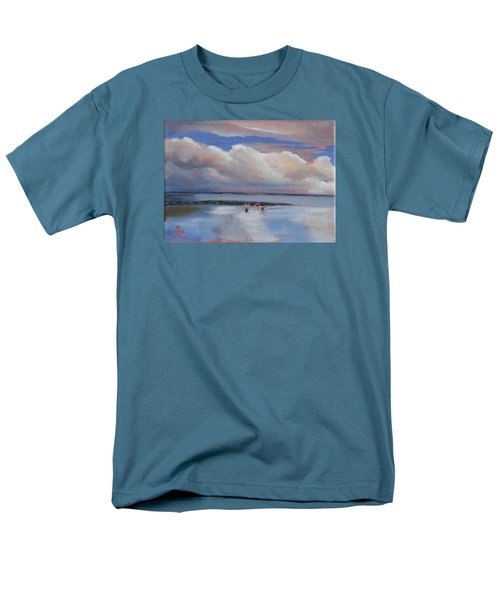 Blue Sky And Clouds I Men's T-Shirt  (Regular Fit) by Trina Teele