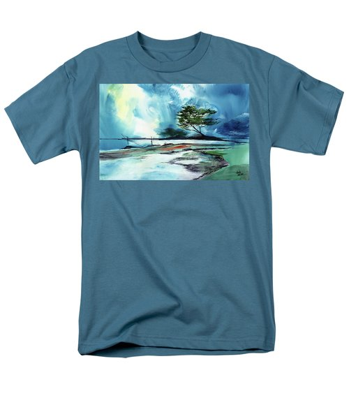 Men's T-Shirt  (Regular Fit) featuring the painting Blue Sky by Anil Nene