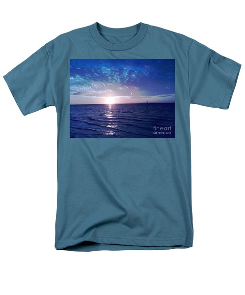 Blue Sunset Men's T-Shirt  (Regular Fit) by Vicky Tarcau
