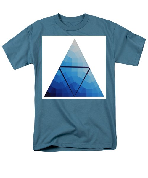 Blue Triangle - Wave Of Blue - Image #10 Men's T-Shirt  (Regular Fit) by Peter Mooyman