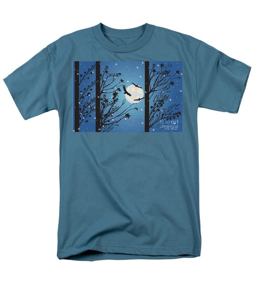 Men's T-Shirt  (Regular Fit) featuring the digital art Blue Winter Moon by Kim Prowse