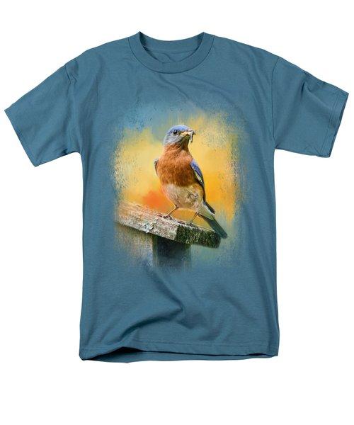Bluebird Mealtime Men's T-Shirt  (Regular Fit) by Jai Johnson