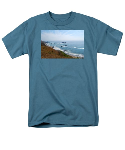 Men's T-Shirt  (Regular Fit) featuring the photograph Bodega Bay Arched Rock by Debra Thompson