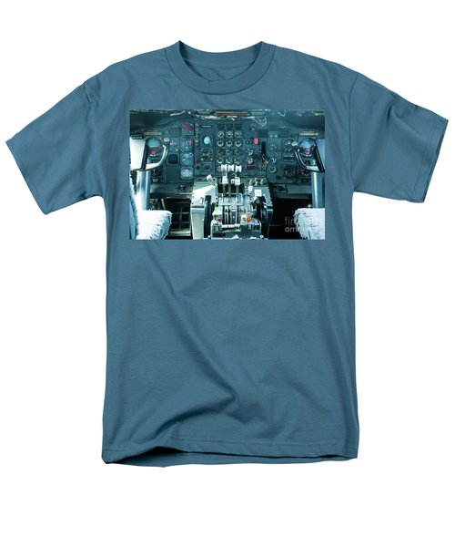 Boeing 747 Cockpit 23 Men's T-Shirt  (Regular Fit) by Micah May