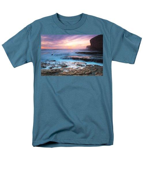 Men's T-Shirt  (Regular Fit) featuring the photograph Bonny Doon Beach by Catherine Lau
