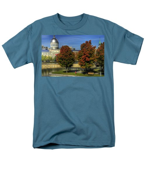 Men's T-Shirt  (Regular Fit) featuring the photograph Bonsecours Market by Nicola Nobile