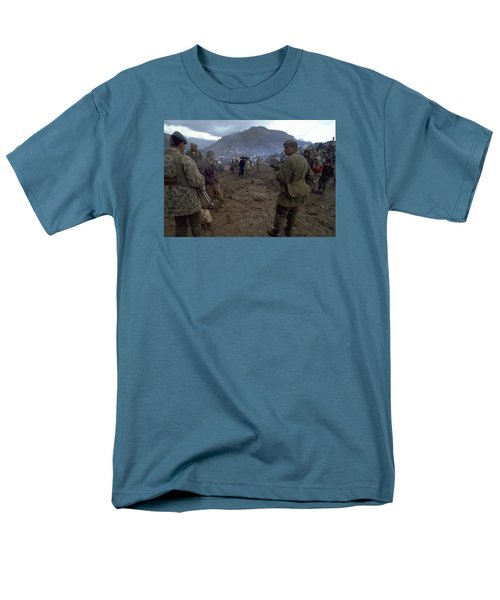 Men's T-Shirt  (Regular Fit) featuring the photograph Border Control by Travel Pics