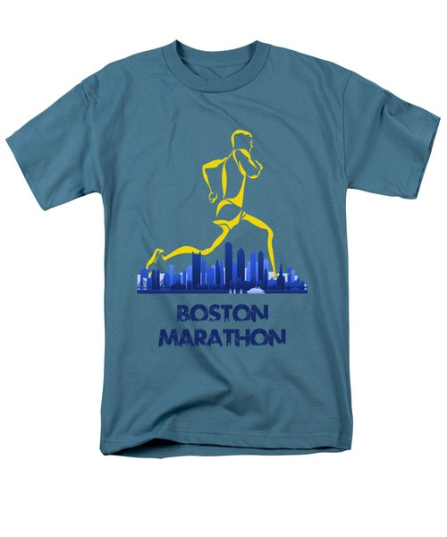 Boston Marathon5 Men's T-Shirt  (Regular Fit) by Joe Hamilton