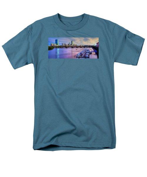 Boston Skyline Sunset Men's T-Shirt  (Regular Fit) by Joann Vitali