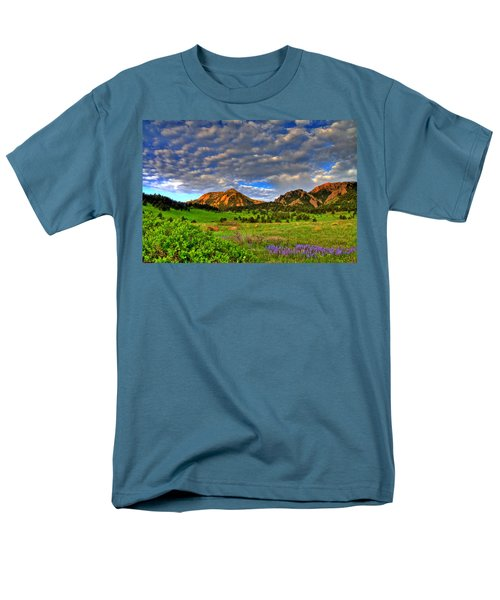 Boulder Spring Wildflowers Men's T-Shirt  (Regular Fit) by Scott Mahon