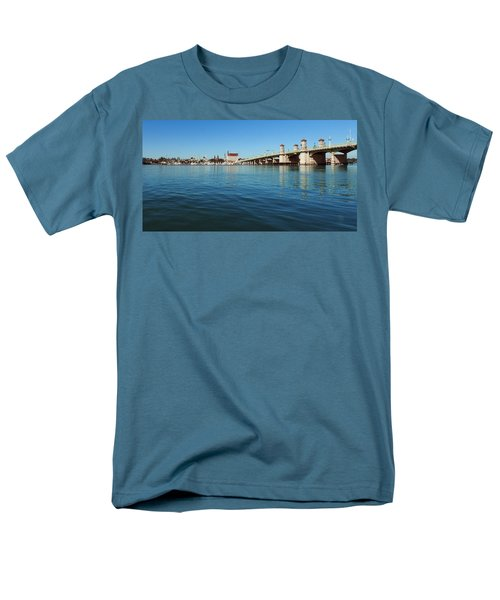 Men's T-Shirt  (Regular Fit) featuring the photograph Bridge Of Lions, St. Augustine by Rod Seel