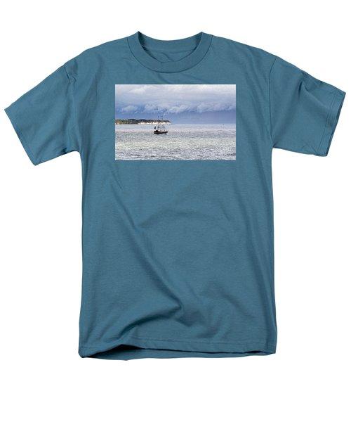 Bridlington Pirate Ship Men's T-Shirt  (Regular Fit) by David  Hollingworth