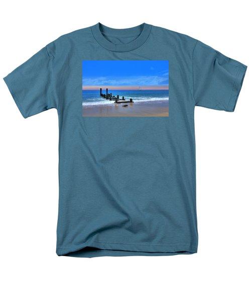 Men's T-Shirt  (Regular Fit) featuring the digital art Broken Pier by Sharon Batdorf