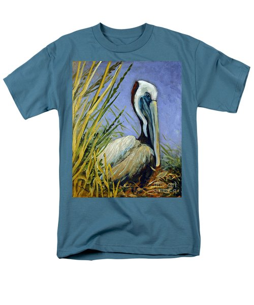 Men's T-Shirt  (Regular Fit) featuring the painting Brownie Nesting by Suzanne McKee