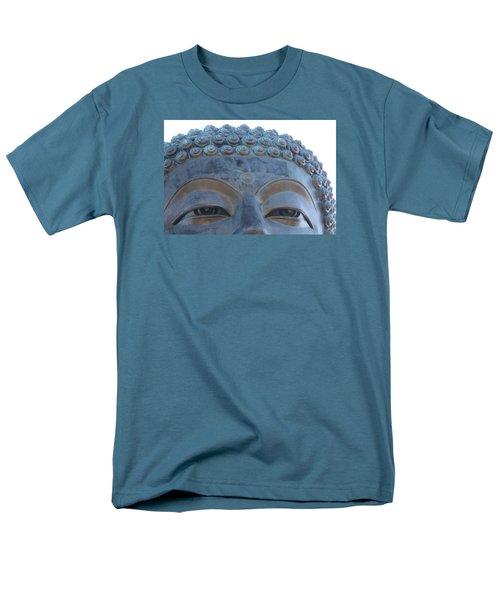Buddha Eyes, Ngong Ping Village, Hong Kong Men's T-Shirt  (Regular Fit) by Jennifer Mazzucco