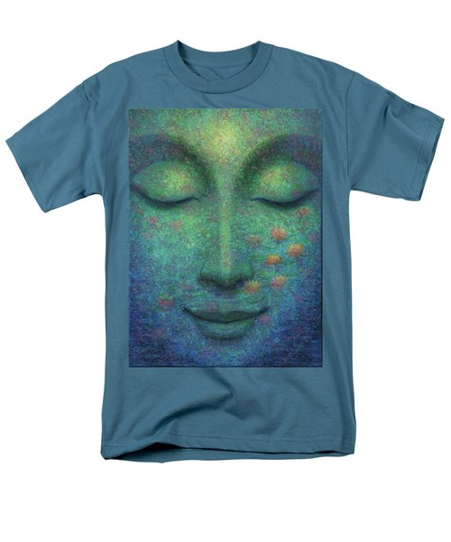 Men's T-Shirt  (Regular Fit) featuring the painting Buddha Smile by Sue Halstenberg
