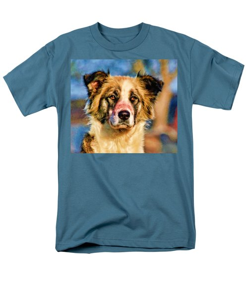 Buster Dog Viewing The Sunset Men's T-Shirt  (Regular Fit) by Lucky Chen