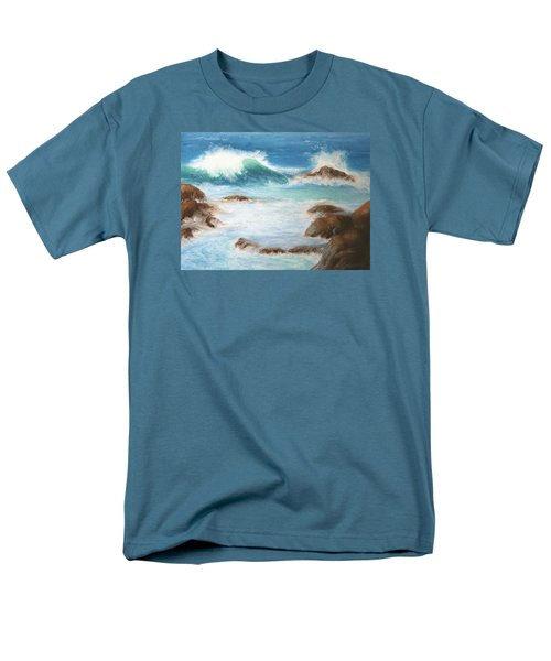 Men's T-Shirt  (Regular Fit) featuring the pastel By The Sea by Marna Edwards Flavell