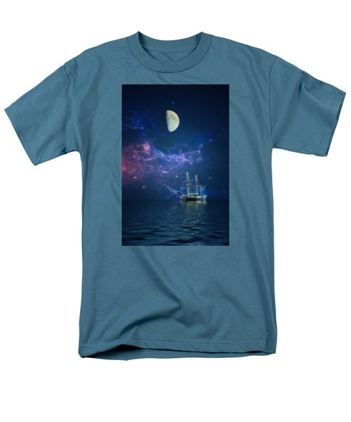By Way Of The Moon And Stars Men's T-Shirt  (Regular Fit) by John Rivera