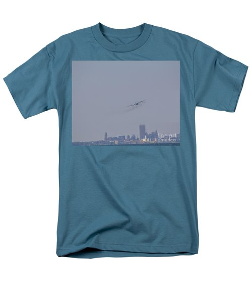 Men's T-Shirt  (Regular Fit) featuring the photograph C130 Over Buffalo by Jim Lepard