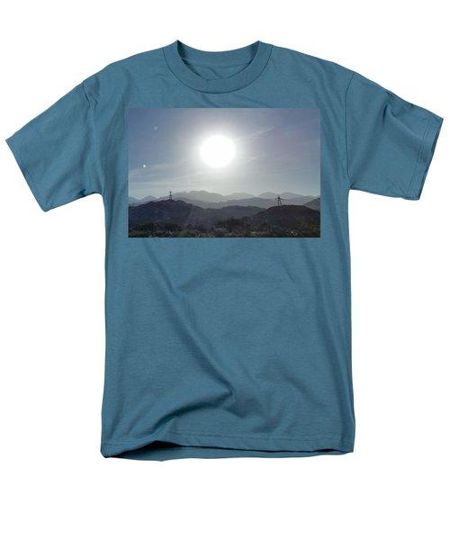Cajon Pass Sunset Men's T-Shirt  (Regular Fit) by Karen J Shine