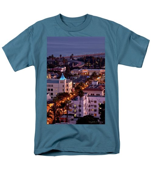 Men's T-Shirt  (Regular Fit) featuring the photograph California Street At Ventura California by John A Rodriguez