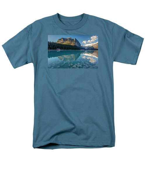 Calm Lake Louise Reflection Men's T-Shirt  (Regular Fit) by Pierre Leclerc Photography