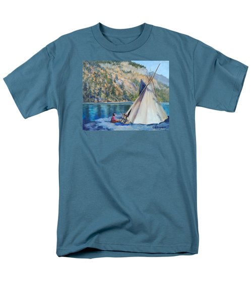 Camp By The Lake Men's T-Shirt  (Regular Fit) by Connie Schaertl