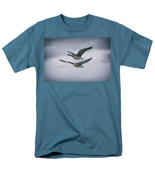 Canadian Geese In Flight Men's T-Shirt  (Regular Fit) by Jason Coward