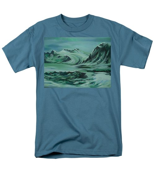 Men's T-Shirt  (Regular Fit) featuring the painting Canadian North by Anna  Duyunova