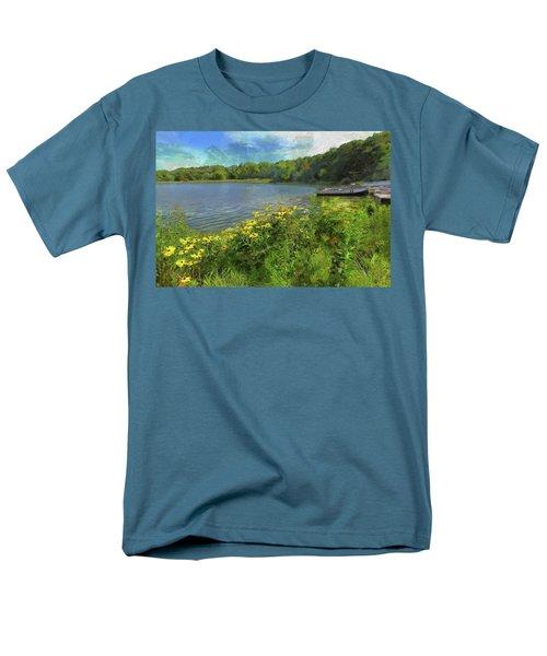 Canoe Number 9 Men's T-Shirt  (Regular Fit) by Cedric Hampton