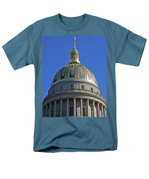 Capitol Dome Charleston Wv Men's T-Shirt  (Regular Fit) by DigiArt Diaries by Vicky B Fuller