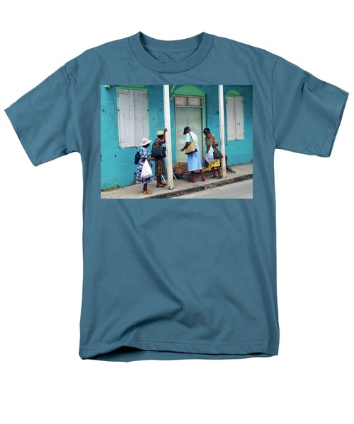 Men's T-Shirt  (Regular Fit) featuring the photograph Caribbean Blue, Speightstown, Barbados by Kurt Van Wagner