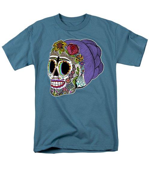 Catrina Sugar Skull Men's T-Shirt  (Regular Fit) by Tammy Wetzel