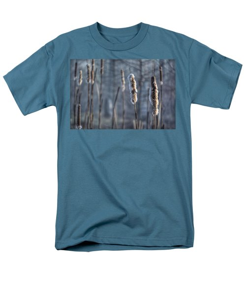 Men's T-Shirt  (Regular Fit) featuring the photograph Cattails In The Winter by Sumoflam Photography